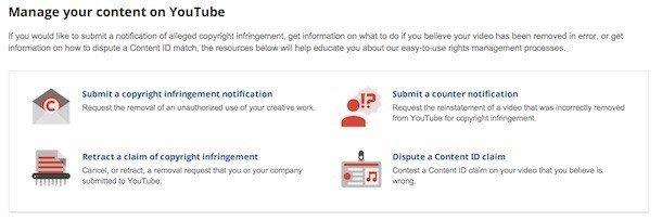 YouTube submit Copyright Infringement