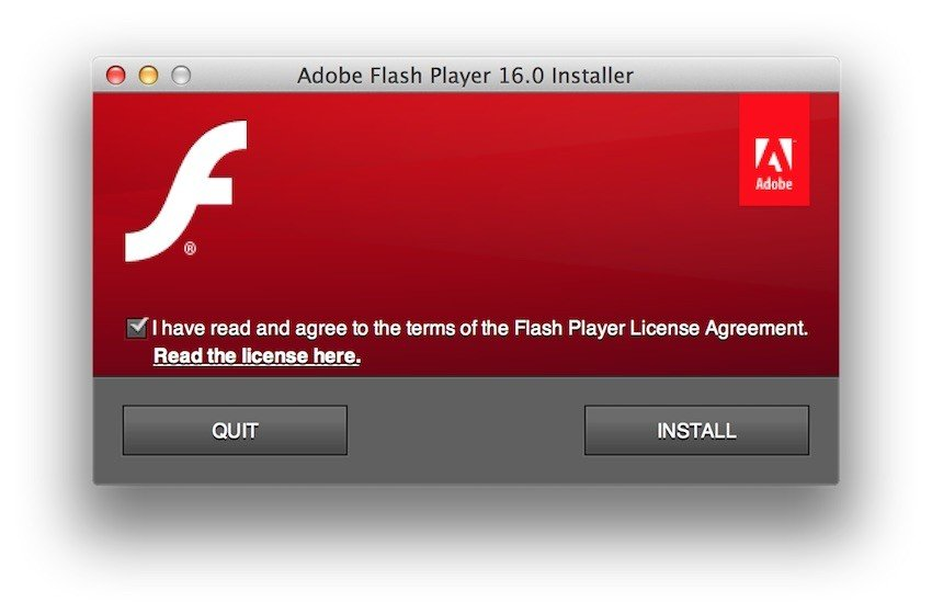 Users must accept Adobe EULA to install Flash - 2