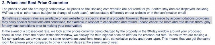Booking.com Refunds Policy