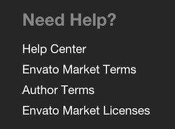 Envato Market Footer: Market Terms