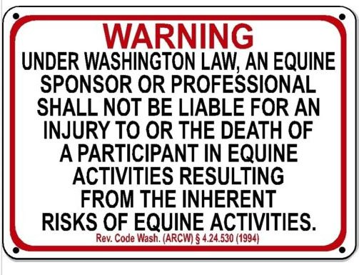 Disclaimer on Equestrian location