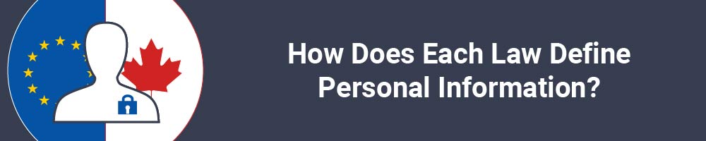 How Does Each Law Define Personal Information?