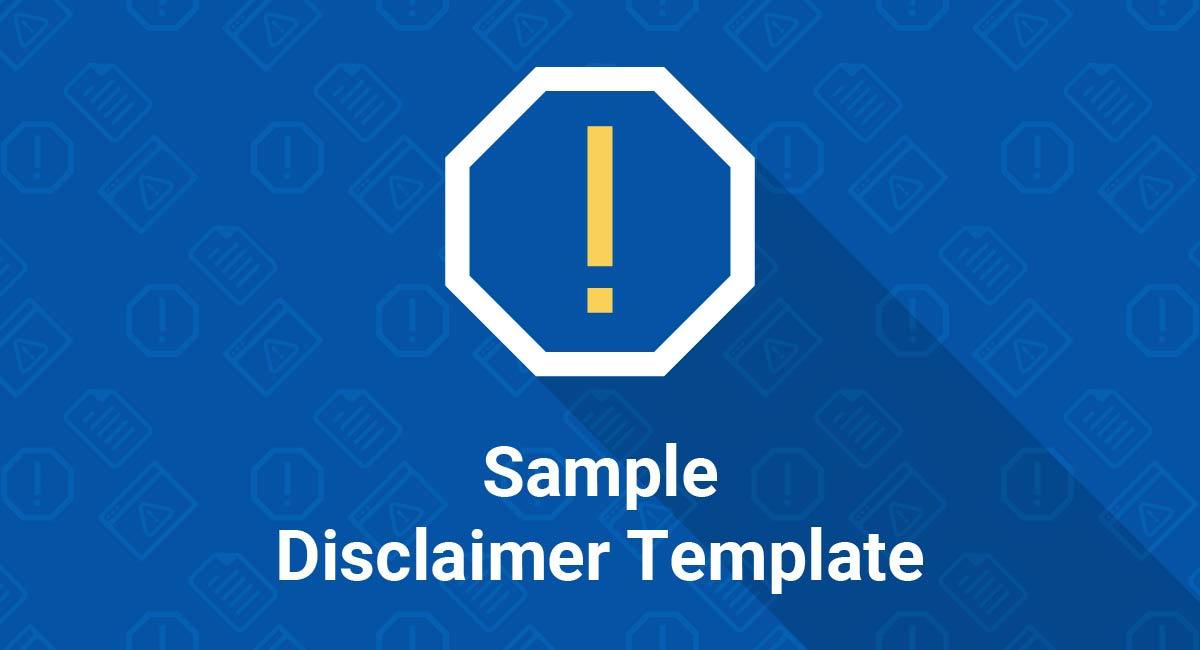 Sample Disclaimer Template