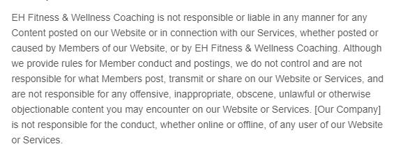 CoachErik content disclaimer